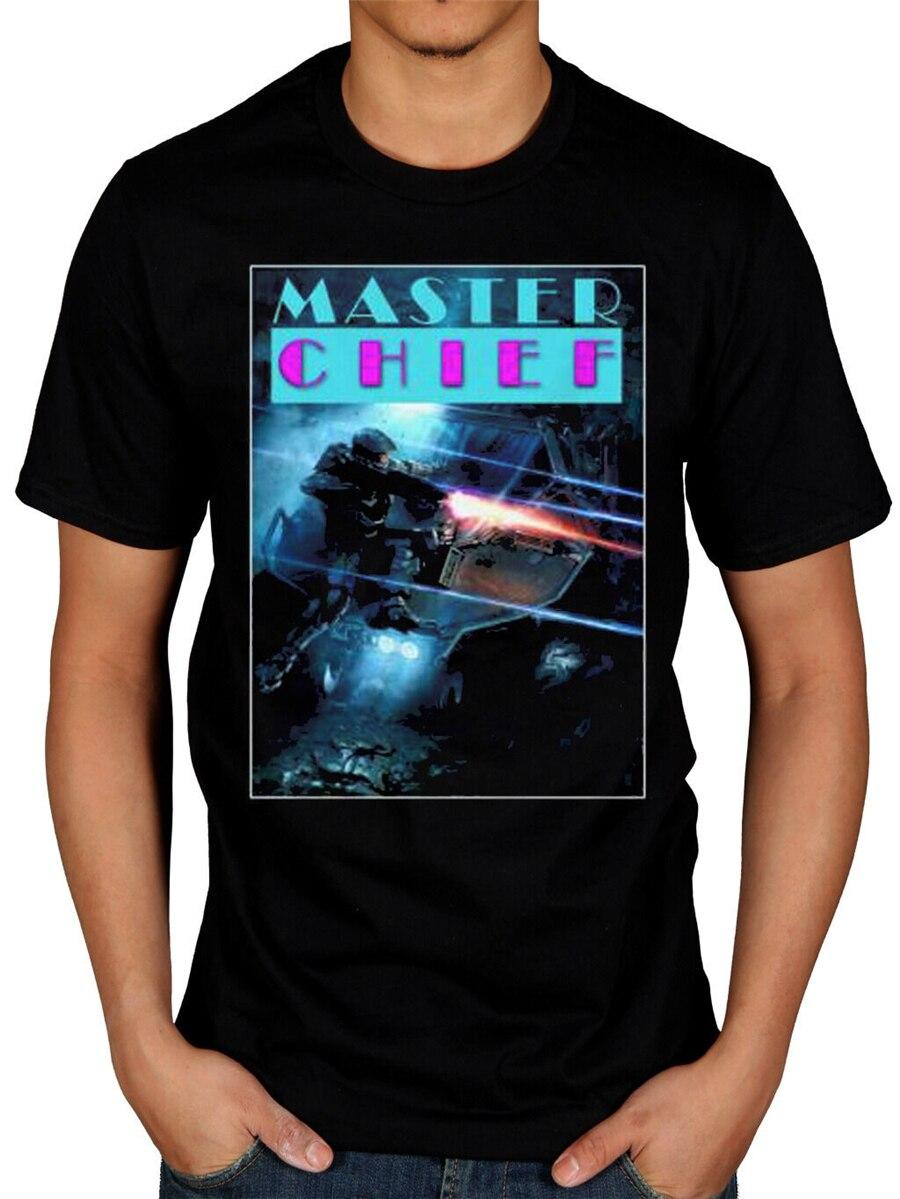Halo Master Chief Tops camiseta Xbox Gaming espartan Alien consola Machinima ropa deportiva hombres camiseta