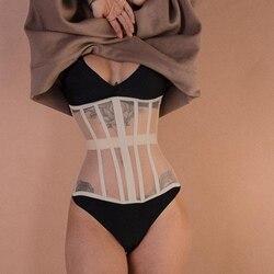 Quente transparente ultra super largo cinto elástico espartilho cinto moda cinto de cintura larga senhoras roupas acessórios feminino decorações Corpetes    -