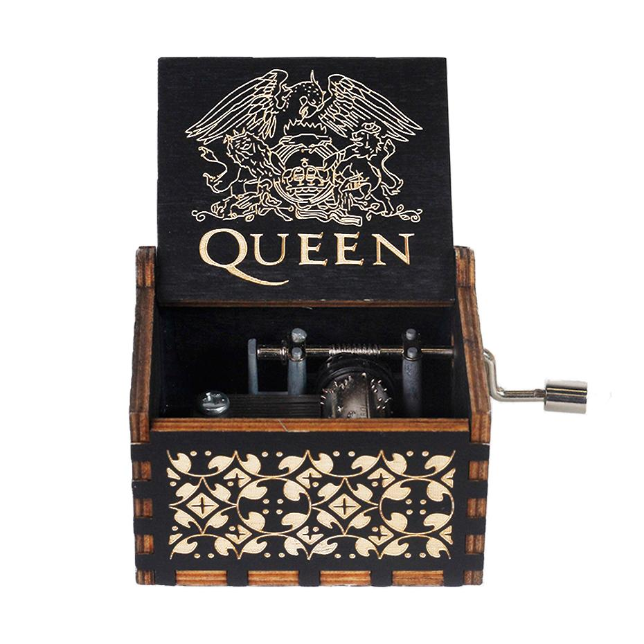 New Black Spirited Away You are MY Queen Bohemian Rhapsody Hand Cranked Wood Music Box Sailor Moon F