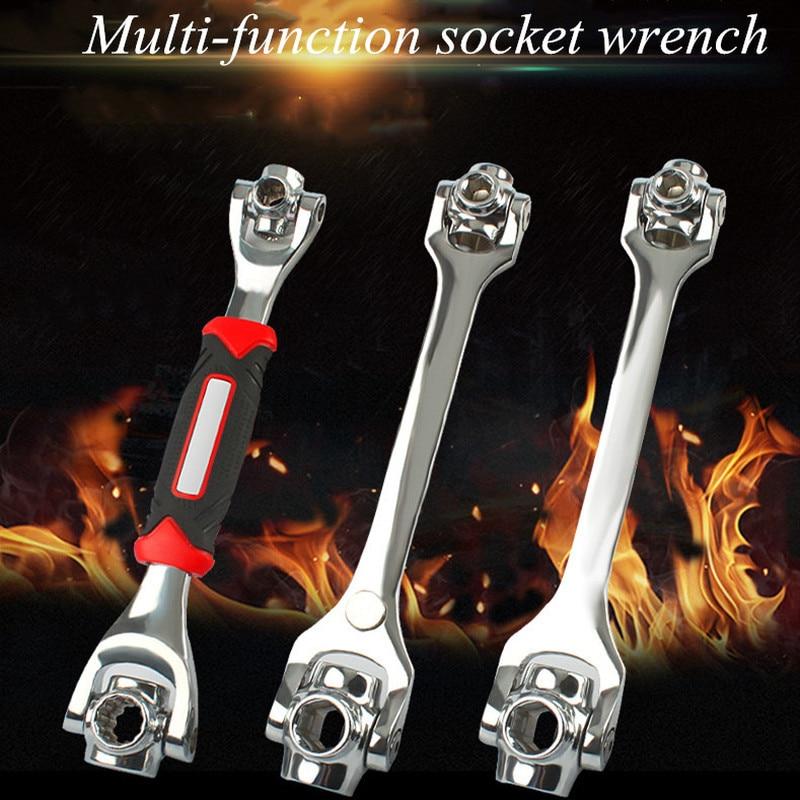 8 em 1 multi chave de soquete de catraca 8mm-21mm duas cabeças com parafusos spline universal torx 360 graus carro bicicleta reparação toolset