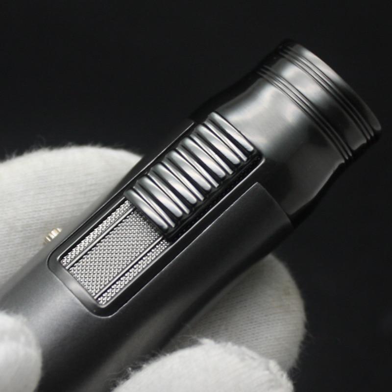 Torch Turbo Jet Butane Gas Lighter Metal Strip Windproof Cigar Cigarette Lighter 1300 C  Fixed Fire Portable Gadgets For Men enlarge