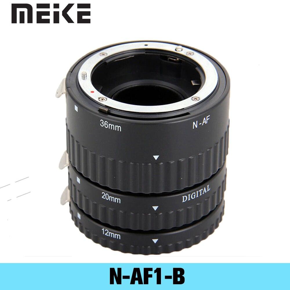 Meike عدسة ماكرو للكاميرا ، حلقة محول لنيكون D3100 D5000 ، 12 ، 20 ، 36 مللي متر ، مع التركيز التلقائي ، جميع العدسات ل DSLR AF ، N-AF1-B ،