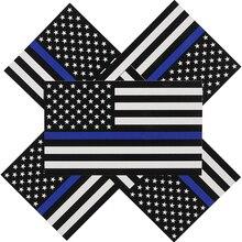 5 pièces 6.5*11.5CM agent de Police ligne bleue drapeau américain décalcomanie autocollants créatif décoratif vélo autocollant décoration