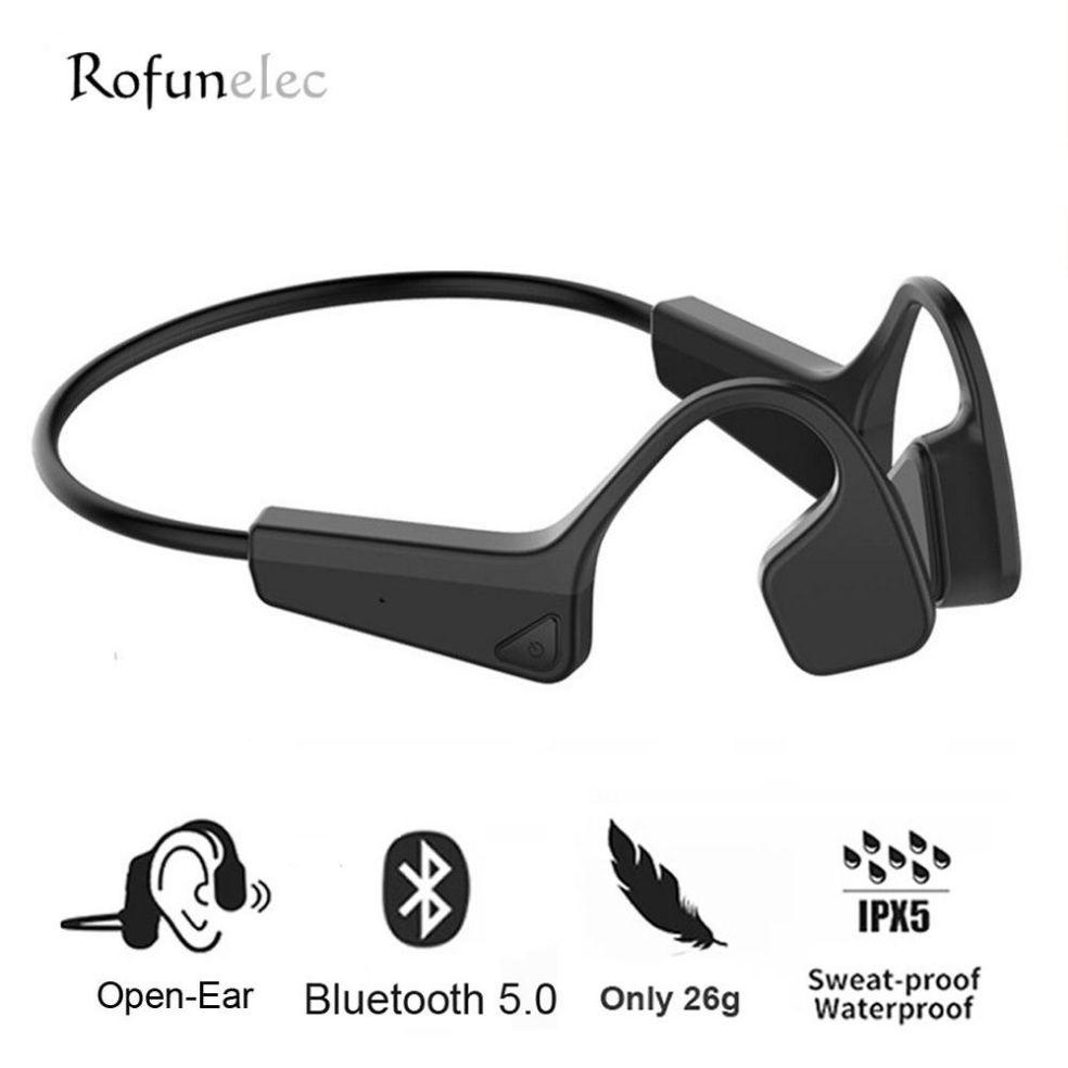 سماعات توصيل العظام سماعة لاسلكية تعمل بالبلوتوث سماعات سماعات مقاومة للماء مزدوجة ستيريو سماعات مزودة بميكروفون للركض الرياضي