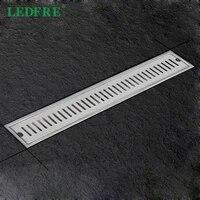 LEDFRE     Drain de douche en acier inoxydable 304  Long canal de Drainage lineaire pour hotel salle de bains cuisine  LF66009