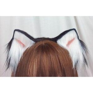 High quality Hand-made beast ear hair hoop cat ear lolita headdress edge clip kc cos animal ear lolita