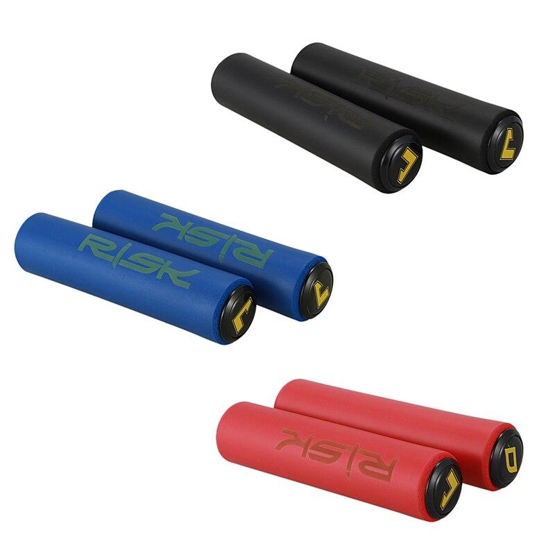 Nuevas empuñaduras de silicona ultraligeras de alta densidad para manillar de bicicleta MTB, cubierta negra antideslizante para agarre de bicicleta