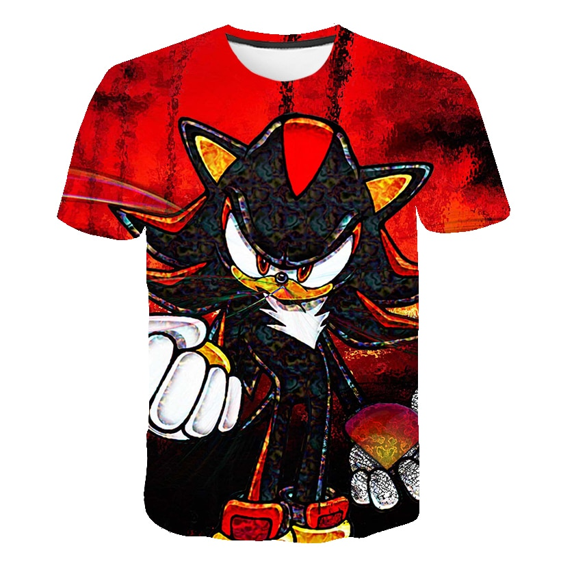 2020 3D Cartoon T Shirt kids clothes Summer Tshirt Mario sonic the hedgehog tshirt Boys Streetwear Teenager Children Tops