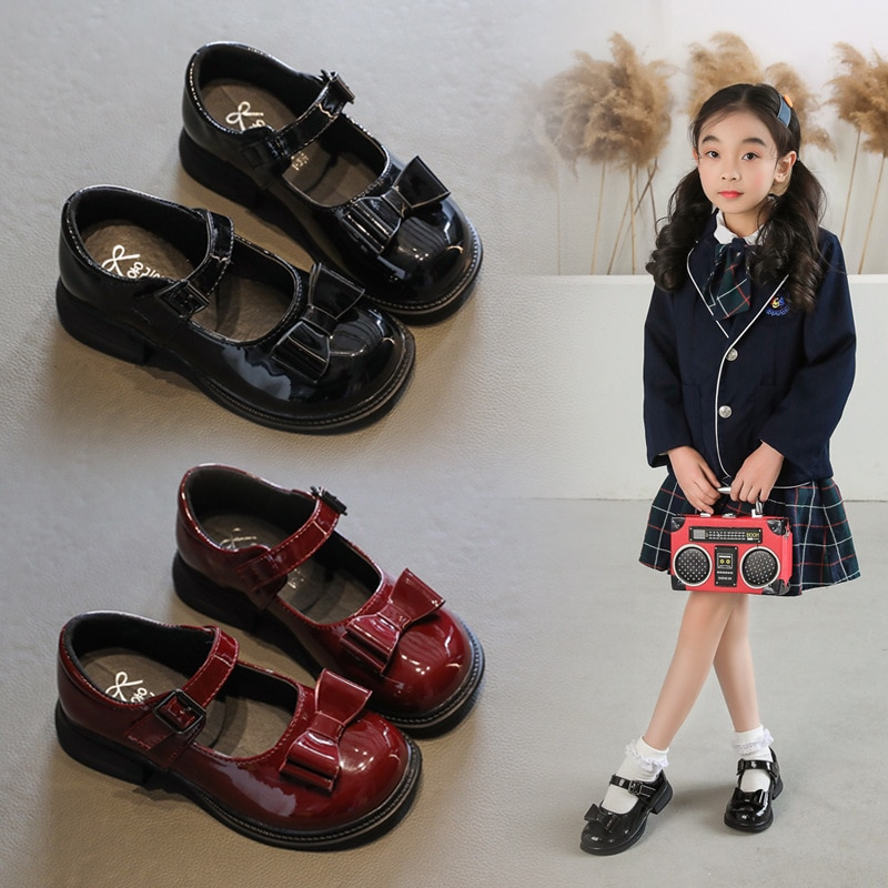 pink black red children girls shoes for kids student leather shoes school black dress shoes girls 4 5 6 7 8 9 10 11 12 13 14t 2021New School Girls Leather Shoes Student Black Dress Shoes Girls Princess Shoes Kids Black chaussure fille 3 4 5 6 7 8 9-13T