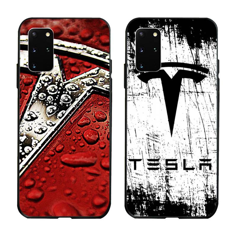 Tesla logotipo do carro caso de telefone para samsung s20 plus ultra s6 s7 borda s8 s9 plus s10 5g lite 2020