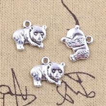 15 pièces breloques chine Panda Animal 14x17mm Antique argent couleur pendentifs bricolage artisanat faisant des résultats à la main bijoux tibétains