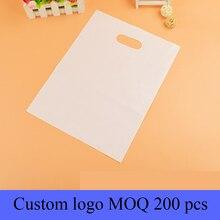 Personalized logo plastic bag printing logo for shopping bag plastic shopping bag with handle 12c thick