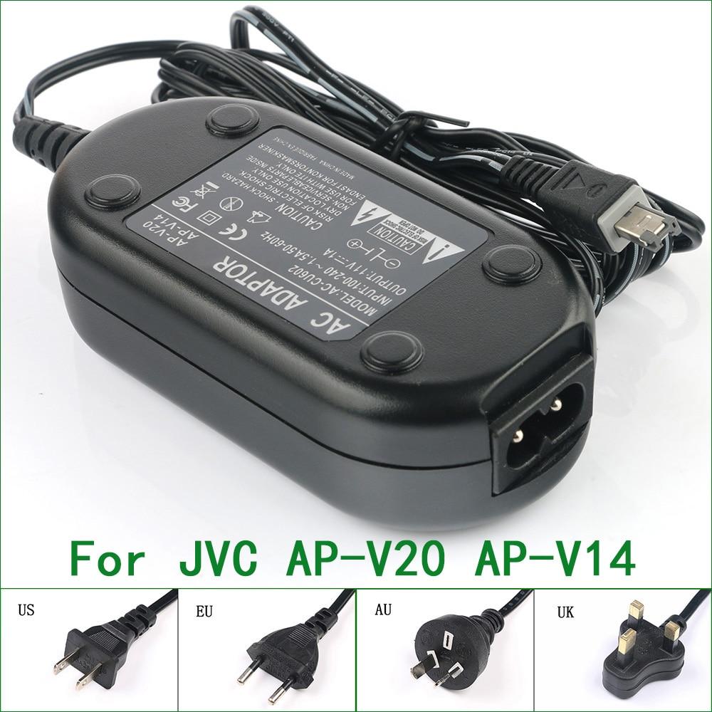 Adaptador de corriente AC/cargador para JVC AP-V14U AP-V15U AP-V16U AP-V17 AP-V18U AP-V19U...