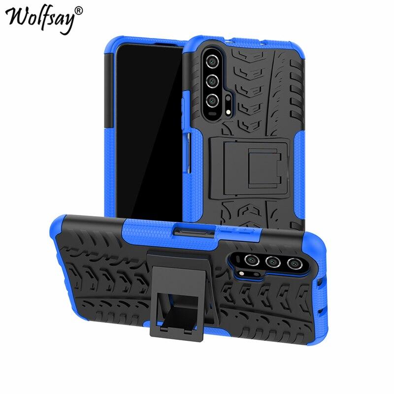 Fundas Wolfsay para Huawei Nova 5T, funda Nova 5T, funda de armadura de caucho duro a prueba de golpes para Huawei Nova 5T, funda de 6,26 pulgadas