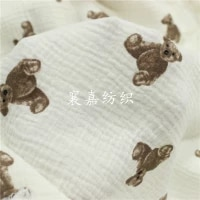 japanese and korean fabric double layer gauze texture explosion bear baby blanket hand made clothing cloth