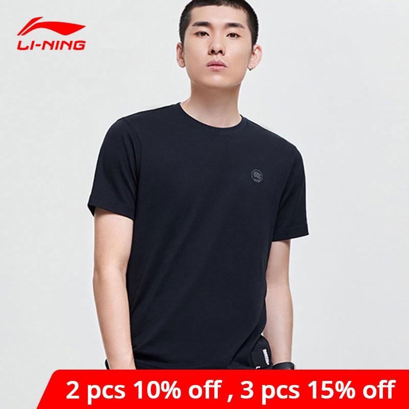 Li-Ning Men Basketball BAD FIVE Tee Regular Fit 100% Cotton Breathable LiNing li ning Sports Top T-Shirt AHSP107 MTS3080