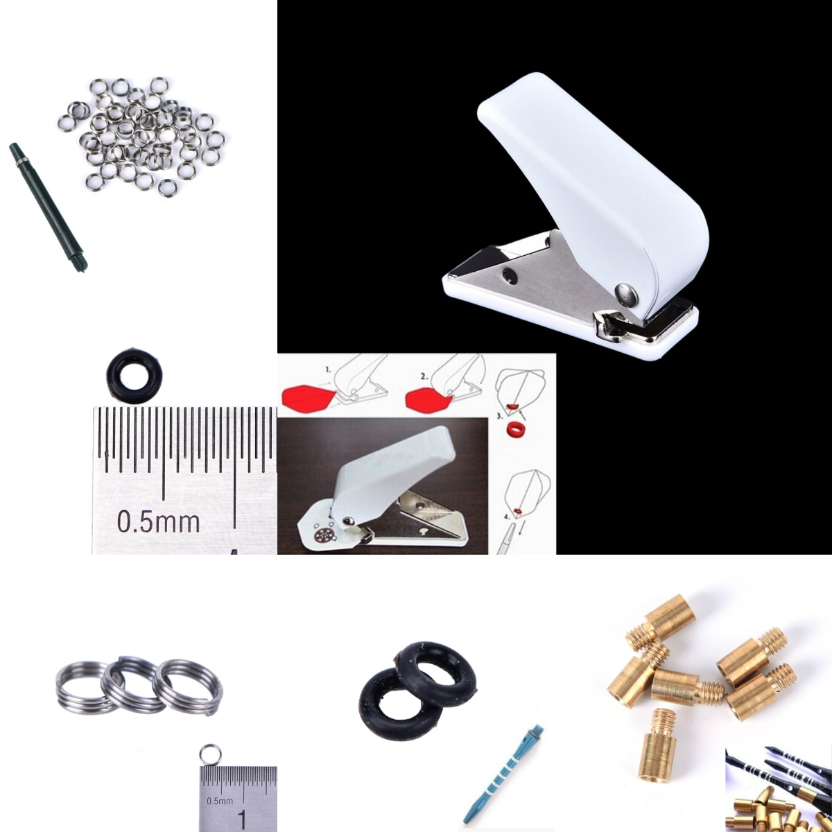 hollow shaft brushed slip ring through hole 12 7mm rotary joint conductive slipring out 54mm 6 12 18 24 circuits 5a collect ring Dart Flights Hole Puncher Punch Shaft Metal Ring Accessories Darts Tool O Ring Darts Arrow Tips Broadhead Replace Accessories