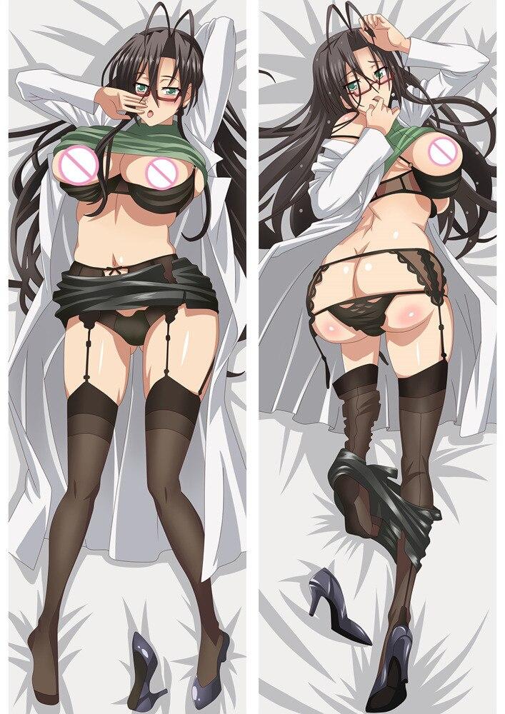 Funda de almohada grande Otaku para chicas sexis con dibujos animados de Anime El Testament de Sister New Devil