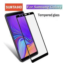 Suntaiho ثلاثية الأبعاد كامل منحني الزجاج المقسى لسامسونج غالاكسي J4 J6 J8 2018 شاشة طبقة رقيقة واقية لمجرة A6 J3 J5 J7Pprime glas