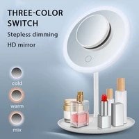 lighting makeup mirror rechargeable vanity mirror with adjustable lights 90 degree rotation one sided lighted makeup mirror