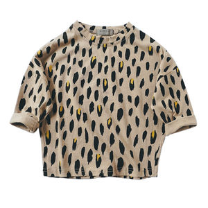 Leopard Print Children Long Sleeve T Shirt Children Clothing For Girls T-shirt Boy Tshirts Kids Spring Autumn Clothes Tops