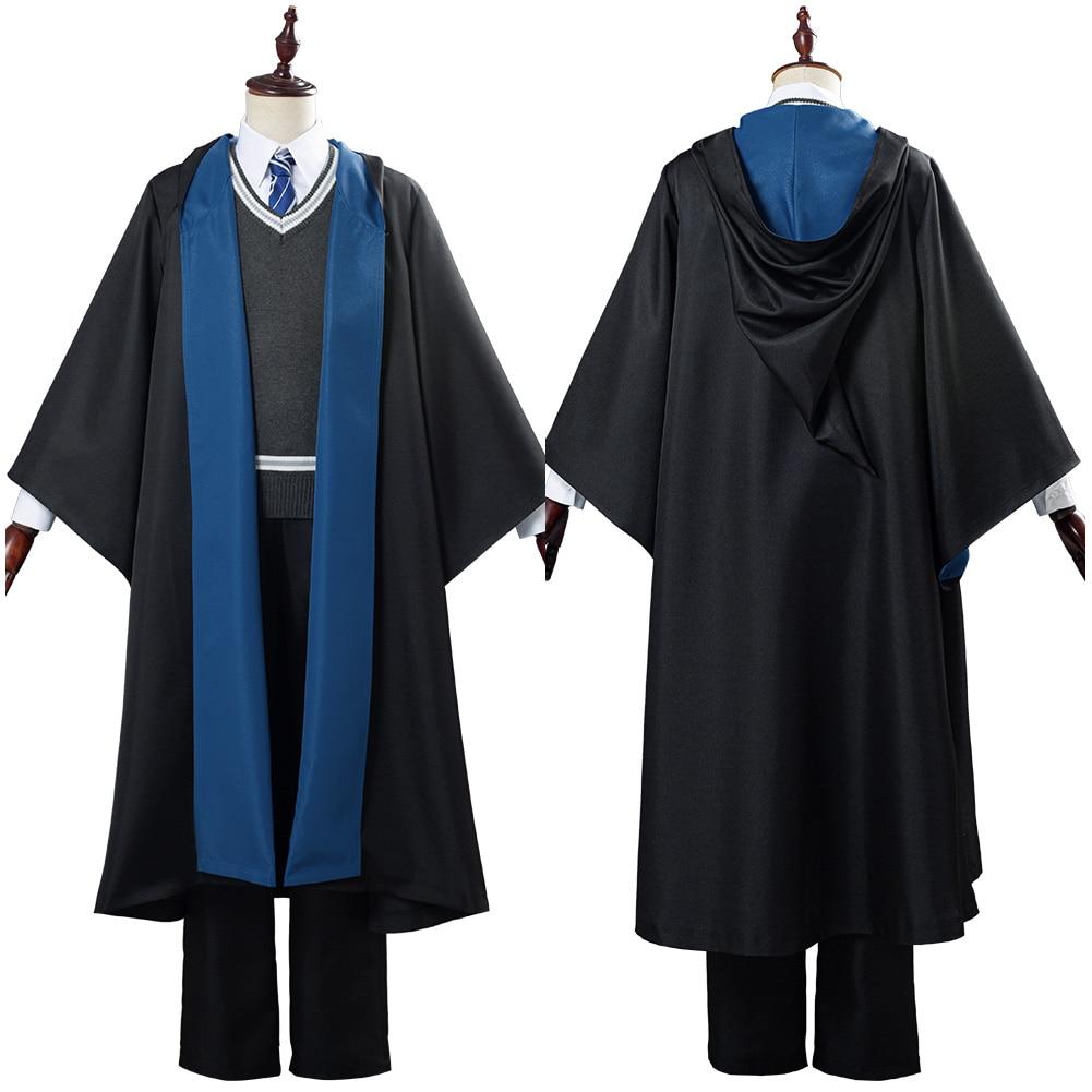 Ravenclaw para Cosplay Roupa para Halloween Ravenclaw para Adultos Fantasia Uniforme Escolar Carnaval Robe