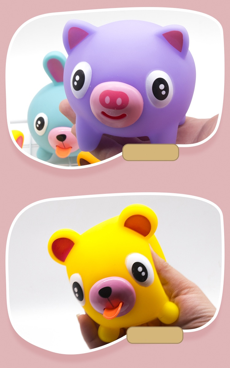 Cute vocal tongue doll pinch music children's decompression vent toy  animal   stress s enlarge