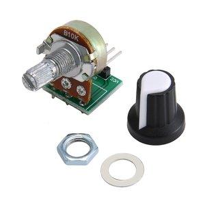 10K Ohm Potentiometer Module Resistor Module 3 Pin Linear Taper Rotary Potentiometer Module for Arduino with Cap
