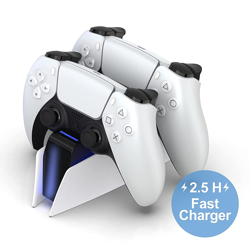 PS5 Type-C DualSense Charging Station Dual Charging Dock Charger Stand for PlayStation 5 DualSense Wireless Game Controller