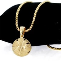 basketball football pendant necklace mens necklace new style fashion metal pendant accessories party jewelry two colors