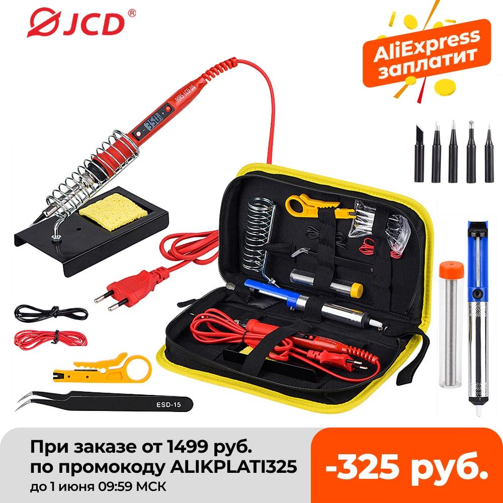 aliexpress.com - JCD Soldering iron kit adjustable temperature 220V 80W LCD solder welding tools Ceramic heater soldering tips Desoldering Pump