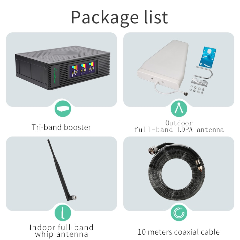 Amplitec 4G Signal Amplifier CDMA PCS AWS Cellular Amplifier 850 1700 1900MHz Mobile Signal Booster 4G Repeater For Mobile Phone enlarge