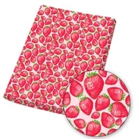 polyester cotton fabric by the yard for tissue fruit printed cloth sewing strawberry dress quilting crafts diy keychains45145cm
