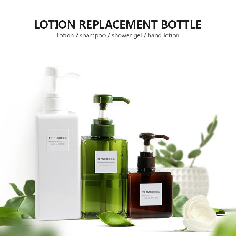 250 Ml Shampoo Pump Bottle Up Bathroom Liquid Shampoo Bottle Travel Dispenser Bottle Container For Soap Shower Gel