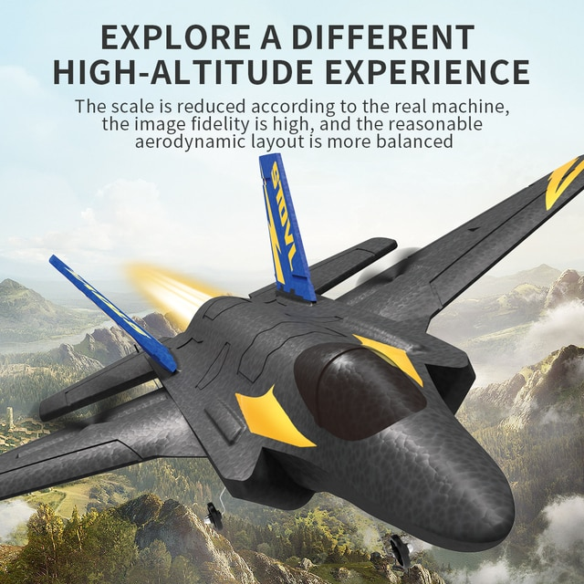 KF605 Glider Airplane RC Fixed Wing Drone 2.4G Remote Control EPP Foam Glider Toys for Adults Kids Boys 4