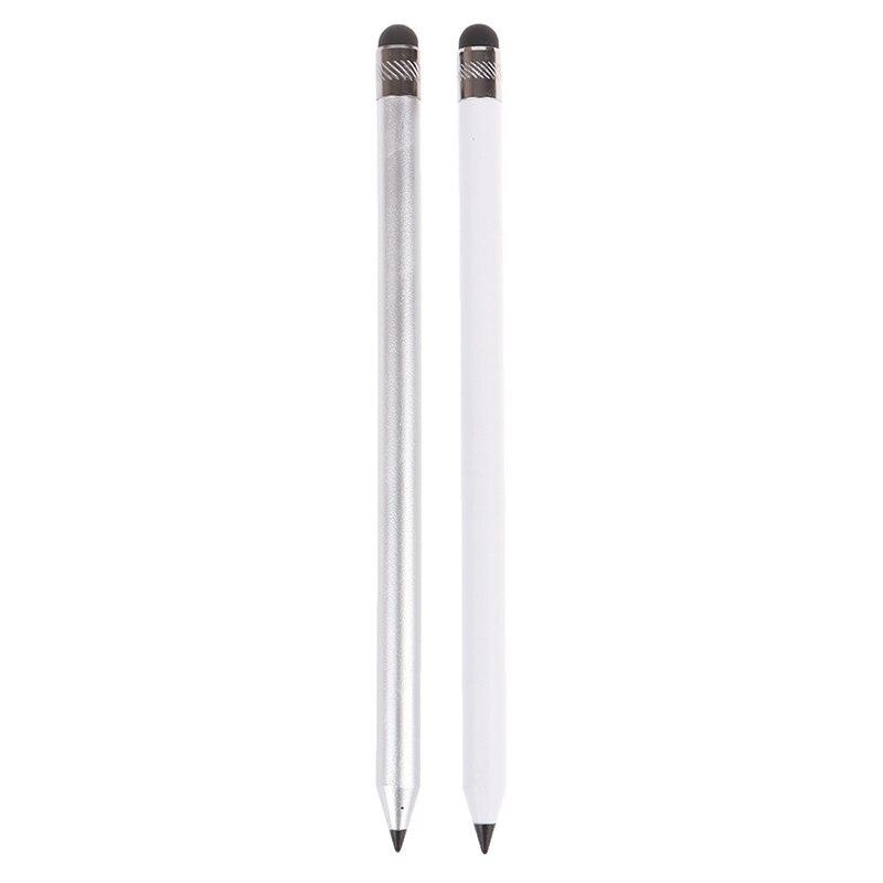 "1Pcs 16,2 cm/6.38 ""Gute Qualität Dual Head Touchscreen Stylus Bleistift Kapazitiven Kondensator Stift Für Pad telefon"