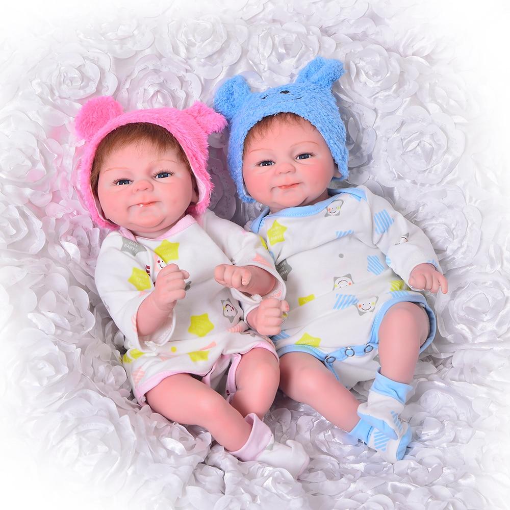Lifelike 17 Inch Bebe reborn Doll Toy 42 cm Silicone Reborn Babies Doll Girl Boy Twins new born baby Toddler doll Gift