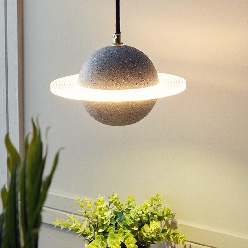 الحديثة قلادة LED ضوء الكوكب الإبداعية مطعم بار الاسمنت تركيبة إضاءة الشمال نوم السرير المطبخ جزيرة مصباح ديكور