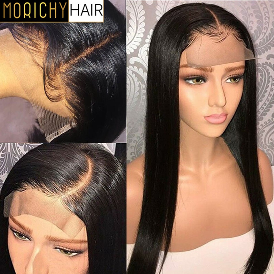 Morichy Straight Lace Front Wig Brazilian LaceFront Human Hair Wigs For Women Pre Plucked 4x4 Lace Closure Frontal Wig