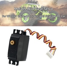 Upgrade Metal 5 Wire Gear Servo For Wltoys 12428-abc/12423-abc 8830 Q46 Rc Car Accessories Kids Toys