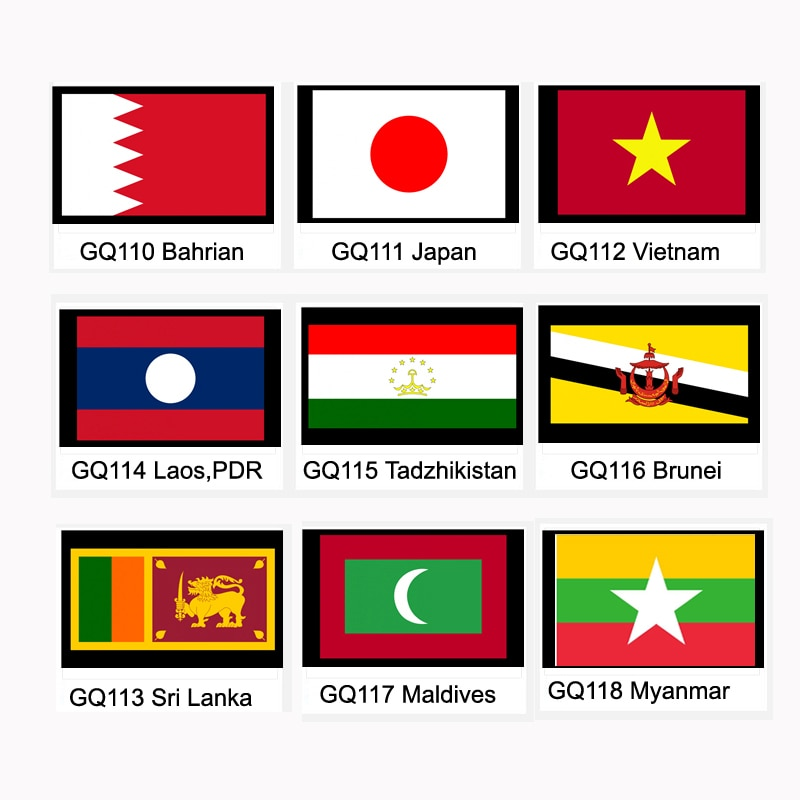 Bahrian Japan Vietnam Sri Lanka Laos,PDR Tadzhikistan Brunei Maldives Myanmar National Flag Banner 21*14cm