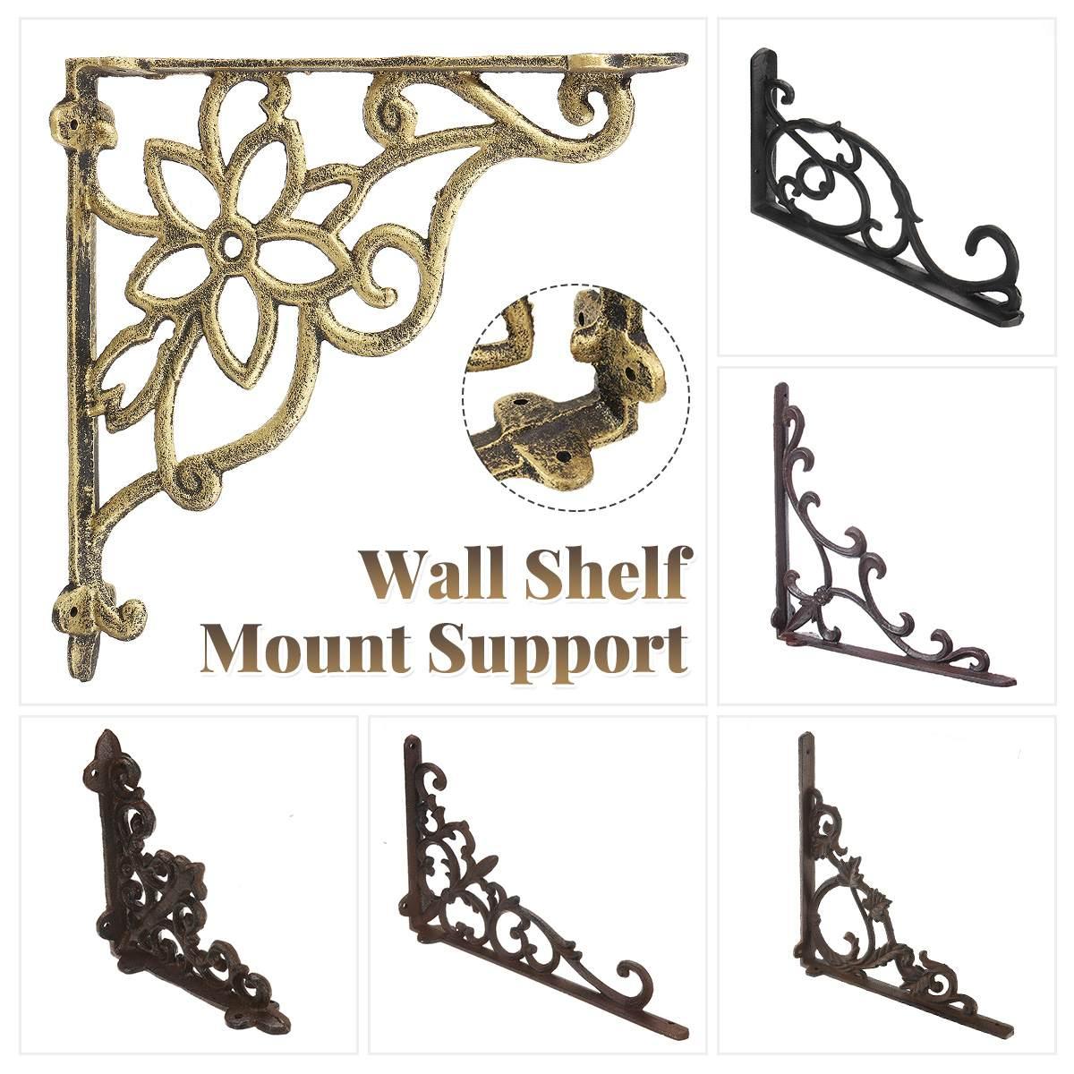1pcs Cast Iron Triangular Angle Bracket Heavy Support Metal Release Catch Support Wall Mount Shelf Bracket Home DIY Decoration