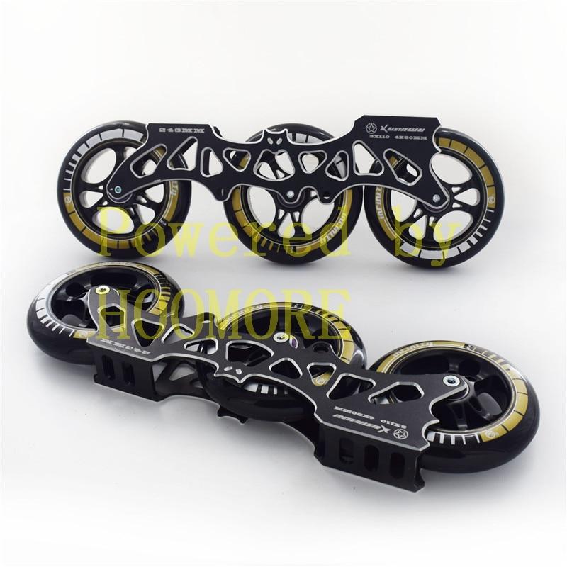 Patines Base Batman multiusos 3X110mm MARCO DE PATINAJE PS negro 110mm 3 ruedas ILQ-11 tornillo espaciador de cojinete combinado 1 par