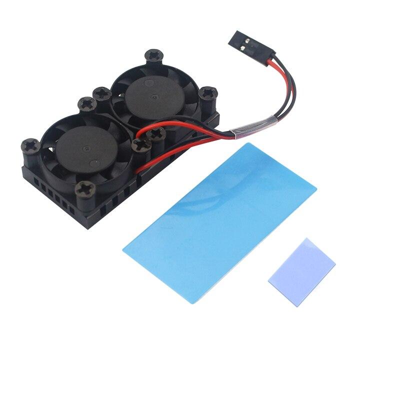 Raspberry Pi 4, modelo B, ventilador doble con disipador de calor, ventilador de refrigeración doble, ventilador de enfriamiento para Raspberry Pi 4 4B