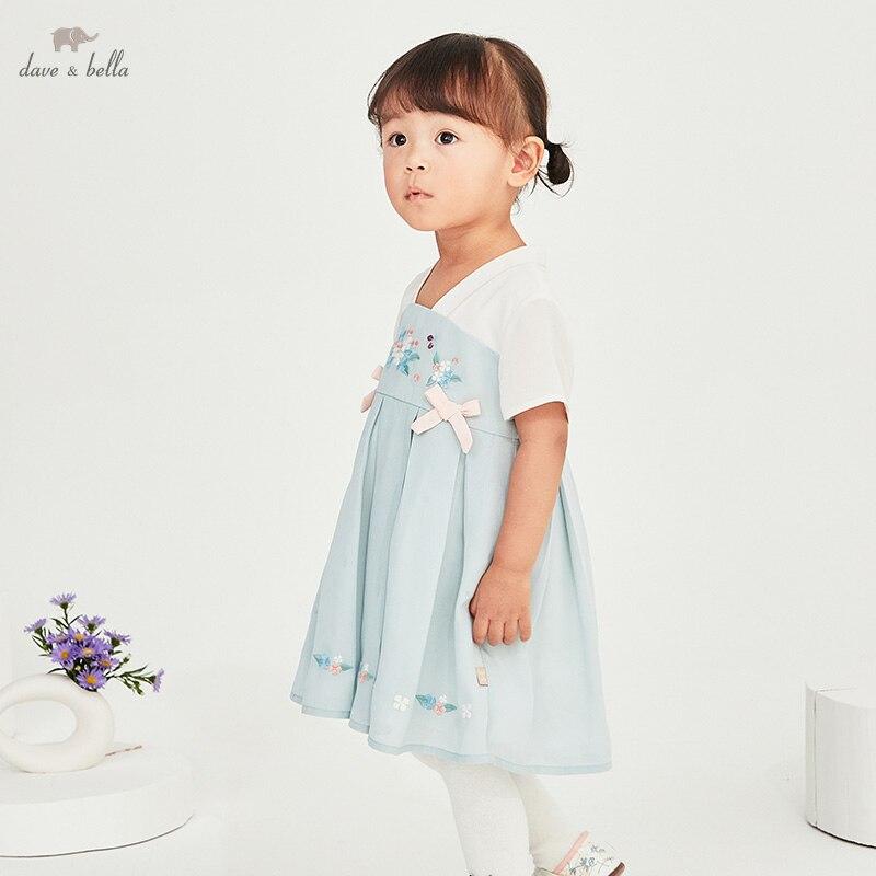 """DBM17253 нижнее белье в стиле бренда dave bella/летнее платье для маленьких девочек в китайском стиле с вышивкой и бантом; Модное детское платье; Вечерние платья для маленьких детей в стиле """"Лолита"""", одежда Платья для девочек    АлиЭкспресс"""