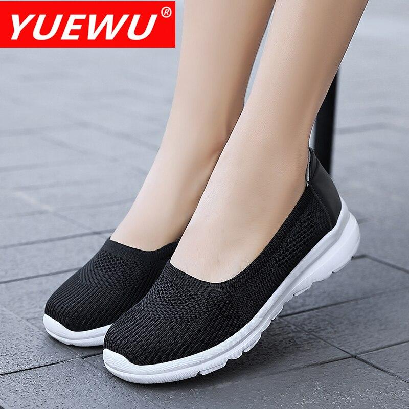 Yuewu Women Casual Shoes Fashion Breathable Mesh  Flats Shoes Lady Sneakers Women Tenis Feminino Shoes Lady Mesh Summer Shoes