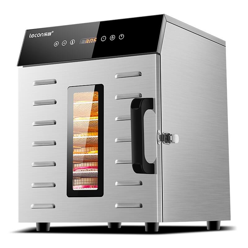 مجفف تجفيف الطعام آلة الفاكهة المجففة المنزلية والتجارية الذكية التي تعمل باللمس 8-layer قدرة البصرية الباب مضاءة