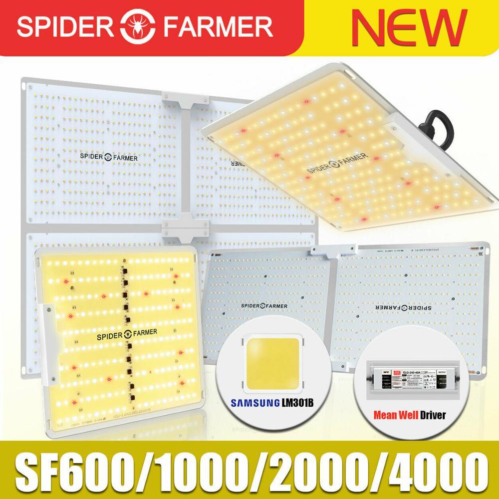 SF 1000W 2000W 4000W lleno espectro Led crecer luz araña granjero Samsung Lm301B Meanwell conductor cuántica junta de planta de flor