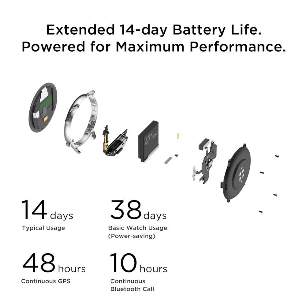 Новый Amazfit GTR 2 Smartwatch 14 дней Срок службы батареи 5ATM уверенно время Управление мониторинг сна Смарт часы для телефонов на Android iOS-2