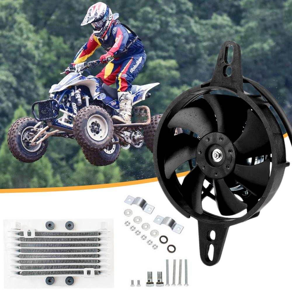 Olomm ventilador de refrigeração, radiador elétrico, para 150cc 200cc 250cc atv chinês, quad go, motocicleta